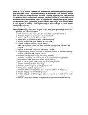 New Learning Objectives for final 2013_Chapter 15 and Principles of Histo. (1)