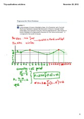 Trigonometric word problems solutions
