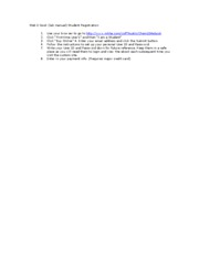 Student instructions to obtain Web lab manual sp10