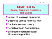 15 Capital Structure Decisions