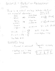 Lecture 6 Notes - Electrical