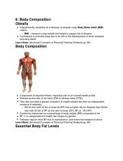 6: Body Composition