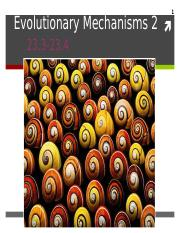 9 Evolutionary Mechanisms 2