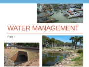 Lecture 7a - Water Management
