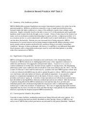 Evidence Based Practice XAP Task 2 docx - Evidence Based Practice