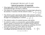 LECTURE 23  Optical properties