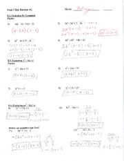 Factoring by grouping worksheet with key