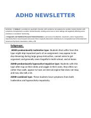 LEARNING DISABILITIES NEWSLETTER