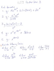 Derivative and limits