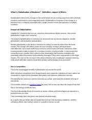 What Is Globalization of Business.docx