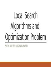 CS401- AI- Local Search Algorithms and Optimatization Problem.pptx