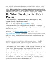 Nokia and Blackbetter Article