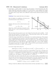 Solutions to Homework on Static Equillibrium and Gravitation