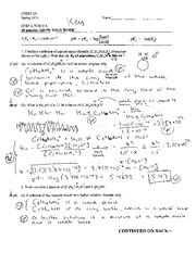 Exam 3 Solution Spring 2013 - Exam 3 Form B Chem201 Spring ...