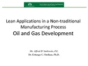 Seminar 1403 - Lean Applications to Oil - Gas Production