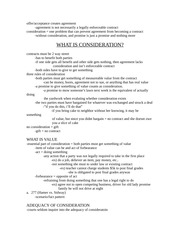 Chapter 12 - consideration - blaw study guide