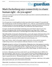 Mark Zuckerberg says connectivity is a basic human right – do you agree_ _ Maeve Shearlaw _ Global d