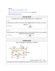 Mastering physics homework solutions