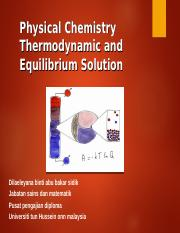 Chapter 5 Thermodynamic and Equilibrium Solution
