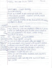 LBST1101 - Sex and Social Dance Video Notes