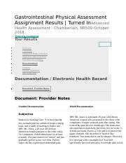 Gastrointestinal Physical Assessment - Documentation.docx