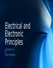 Lecture 15 - Electrical and Electonic Principles.odp