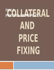 Topic 6-Collateral  Fixed Pricing
