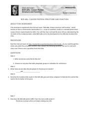 BCR-ABL worksheet Justin Armstrong