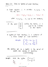 Math 2730 Linear Notes