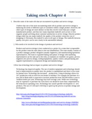 Taking stock Chapter 4