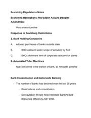 Branching Regulations Notes