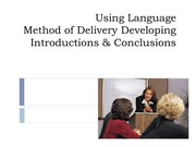 2011 Language, Method of Delivery, Introduction and Conclusion Student Version
