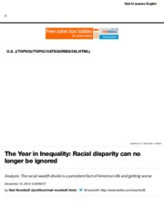 The Year in Inequality: Racial disparity can no longer be ignored | Al Jazeera America