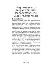 Springer Format Pilgrimages and Religious Tourism Management