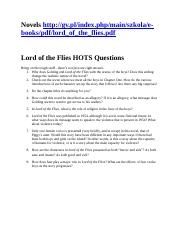 Lord of the Flies HOTS Questions.doc