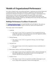 Models of Organizational Performance.docx