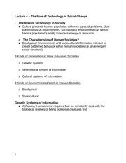 Lecture 4 - The Role of Technology in Society (SN)