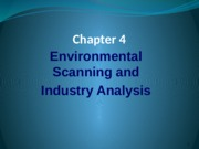 Chapter 4 External Environmental Scanning (2)