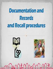 documentaion & recall.ppt