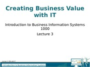Lecture 03 - CBV with IT