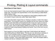 Printing, Plotting & Layout commands