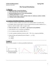 Lecture Notes 7 - Normal Dist and CLT.docx