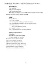 History Notes - Final Exam