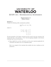 ECON311 Homework3 - Fall 2014 (with solution)