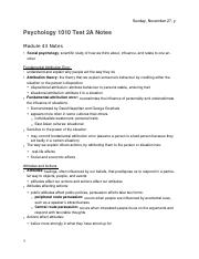 PSYCH 1010 Test 2A Notes (Module 43-46, 20-22)