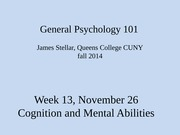 Wk 13 Cognition and Mental Abilities