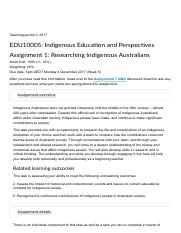 Assignment 1: Group Task: Researching Indigenous Australians.pdf