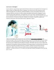 Java Courses in Chandigarh