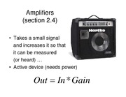 Amplifiers Lecture