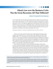 Okun's Law over the Business Cycle